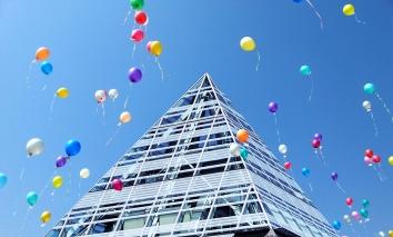 Zentralbibliothek mit Ballons